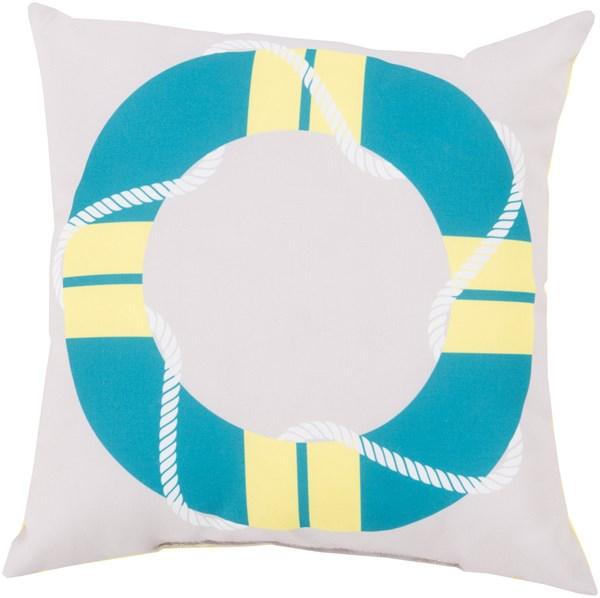 Aqua, Light Gray, Peach (RG-081) Outdoor / Indoor pillow