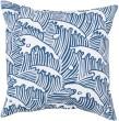 Product Image of Outdoor / Indoor Cobalt, Ivory (RG-096) pillow