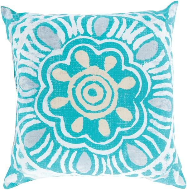 Aqua, Ivory, Beige, Light Gray (RG-135) Outdoor / Indoor pillow