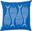 Product Image of Outdoor / Indoor Cobalt, Ivory (RG-169) pillow