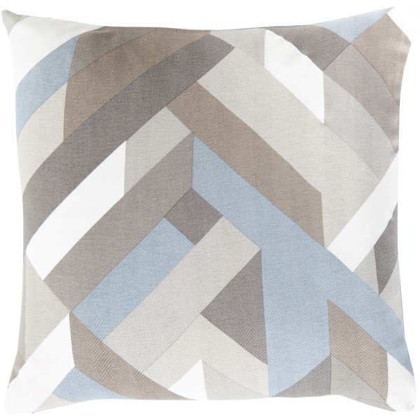 Slate, Ivory, Light Gray (TO-014) Contemporary / Modern pillow