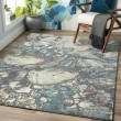 Product Image of Teal, Charcoal, Lime, Light Gray Contemporary / Modern Area Rug
