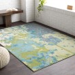Product Image of Teal, Lime, Light Gray Contemporary / Modern Area Rug
