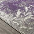 Product Image of Medium Grey, Dark Purple, Cream Abstract Area Rug