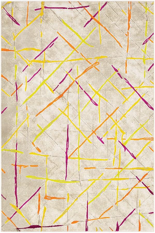 Mustard, Burnt Orange Contemporary / Modern Area Rug