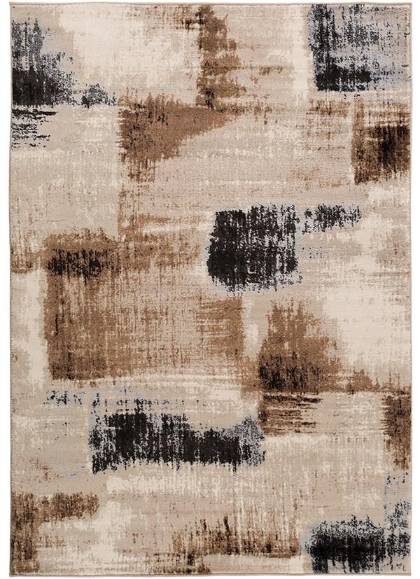Tan, Camel, Medium Gray, Black Transitional Area Rug