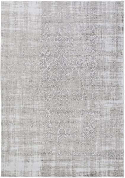 Medium Gray, Ivory, Gray Vintage / Overdyed Area Rug