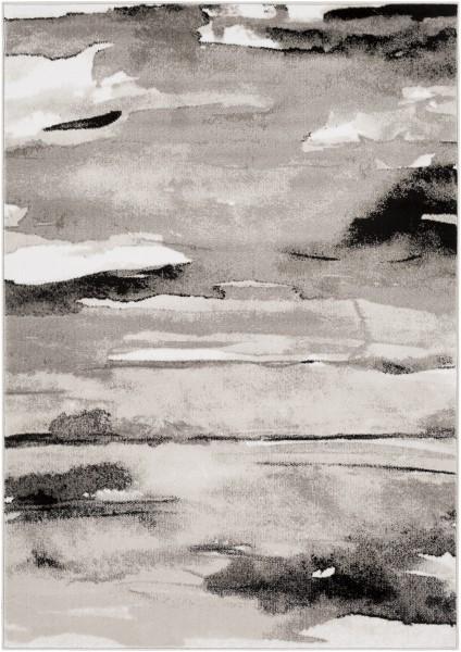 Light Gray, Medium Gray Abstract Area Rug