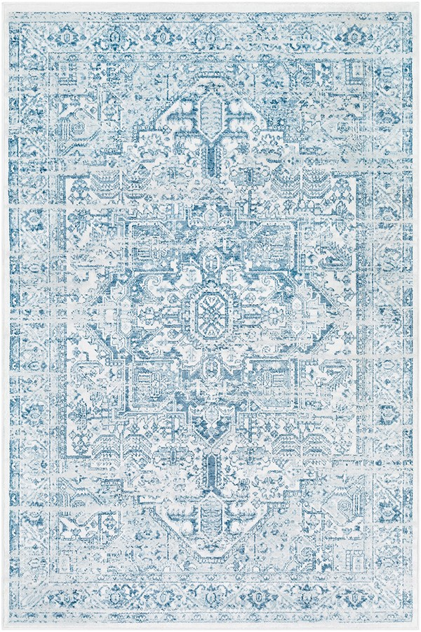 Denim, White, Denim Vintage / Overdyed Area Rug