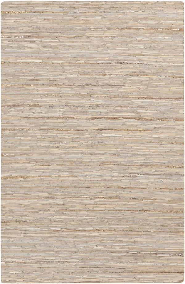 Ivory, Beige, Sky Blue, Gold (ATE-8000) Casual Area Rug