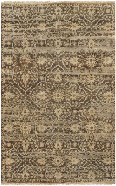 Dark Brown, Camel, Taupe Vintage / Overdyed Area Rug