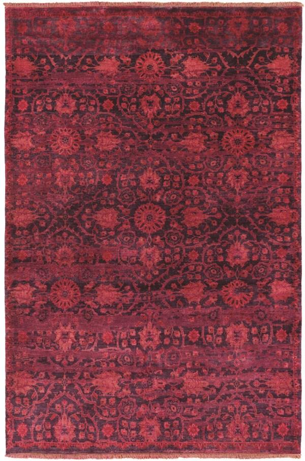 Burgundy, Bright Red, Rose, Dark Purple Traditional / Oriental Area Rug