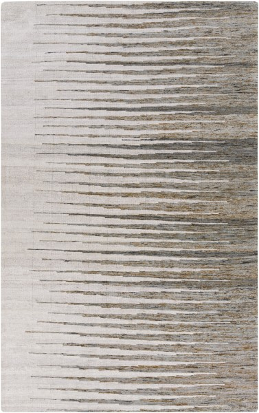 Light Grey, Dark Brown, Ivory (1002) Transitional Area Rug