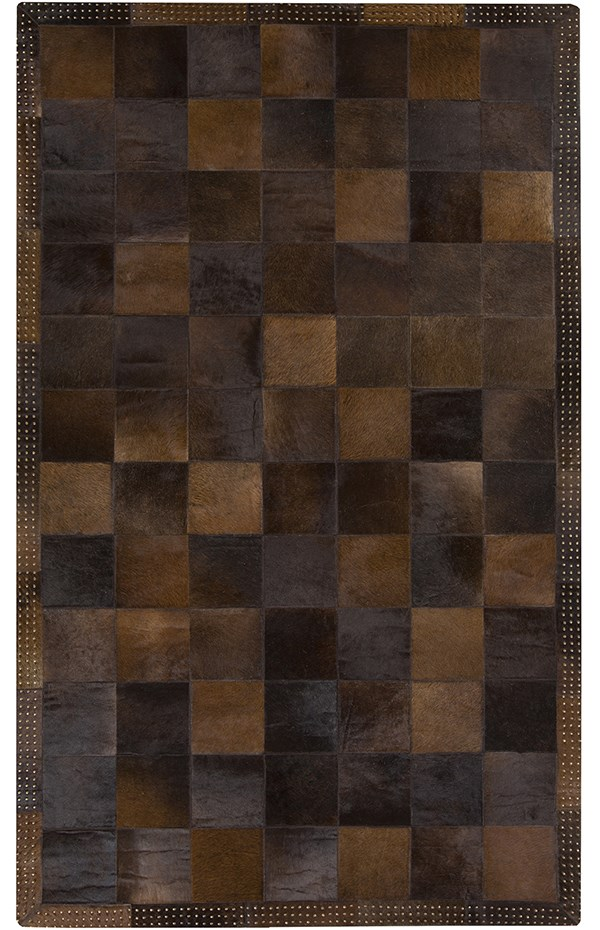Brown, Chocolate (3001) Southwestern / Lodge Area Rug