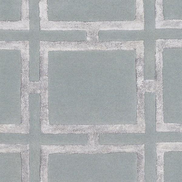 Sage, Light Gray Geometric Area Rug