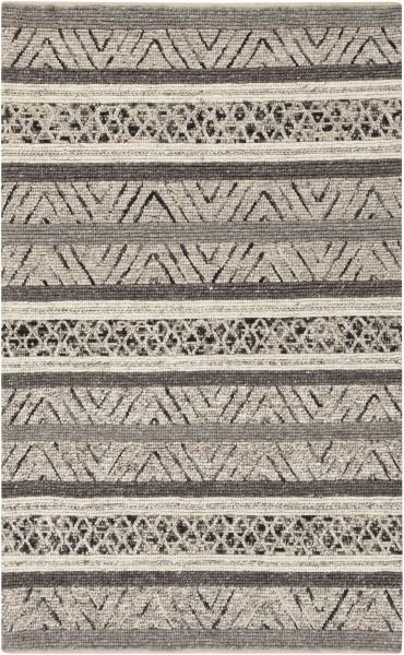Charcoal, Black, Medium Grey Moroccan Area Rug