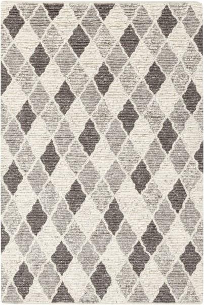 Charcoal, Black, Medium Grey Transitional Area Rug