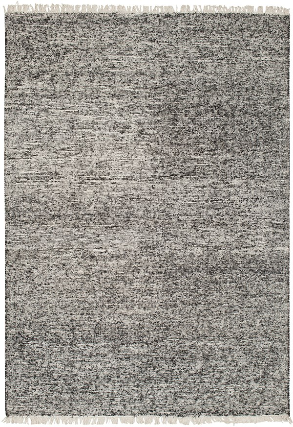 Black, Ivory (REX-4000) Casual Area Rug