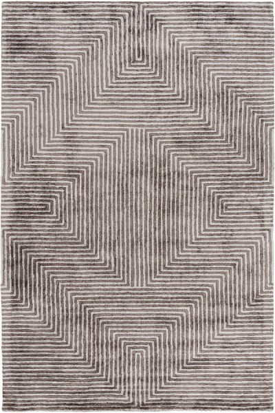 Light Gray, Charcoal Transitional Area Rug