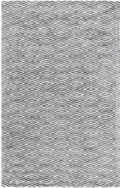 Charcoal, Light Grey, Cream Contemporary / Modern Area Rug