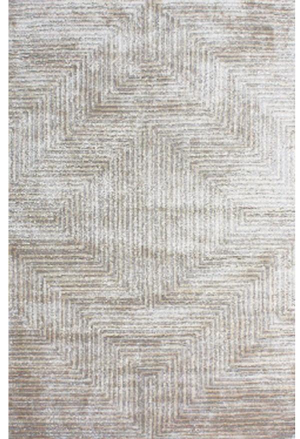 Beige, Medium Gray Contemporary / Modern Area Rug