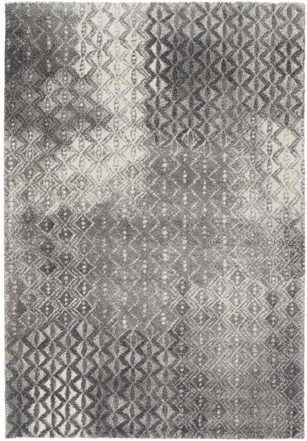 Charcoal, Light Gray Transitional Area Rug
