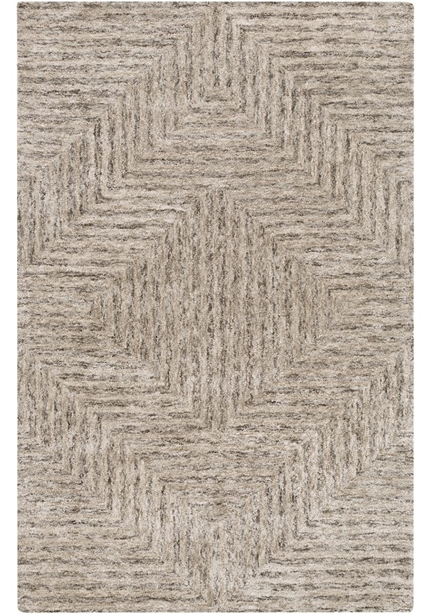 Light Gray, Taupe, Charcoal Transitional Area Rug