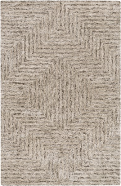 Ivory, Taupe, Dark Brown Transitional Area Rug