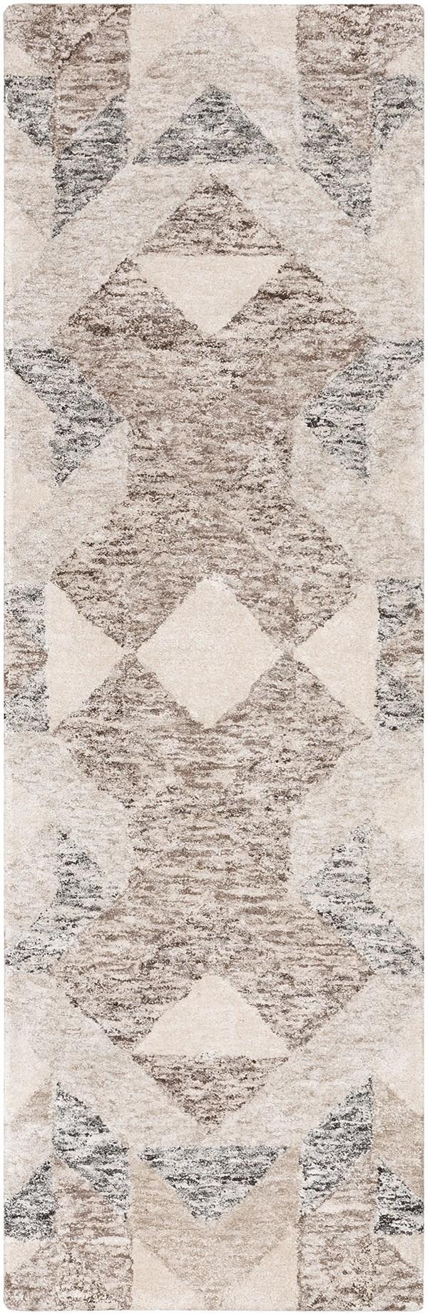 Camel, Dark Brown, Beige Geometric Area Rug