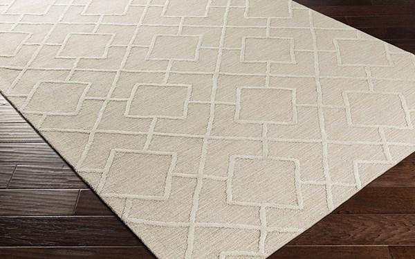 Ivory, Beige Transitional Area Rug