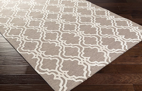 Ivory, Gray, Taupe Moroccan Area Rug