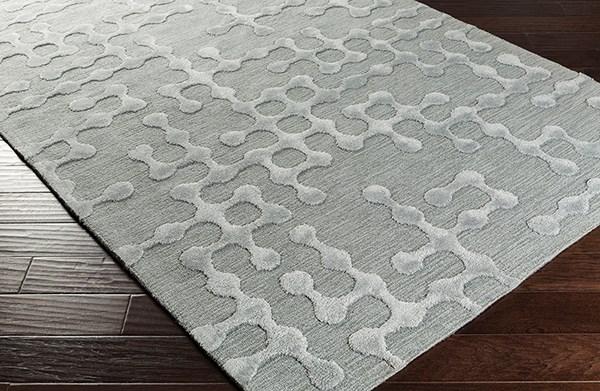 Light Gray, Sage Contemporary / Modern Area Rug