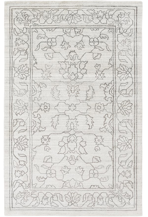 Gray, Ivory (HTW-3000) Traditional / Oriental Area Rug
