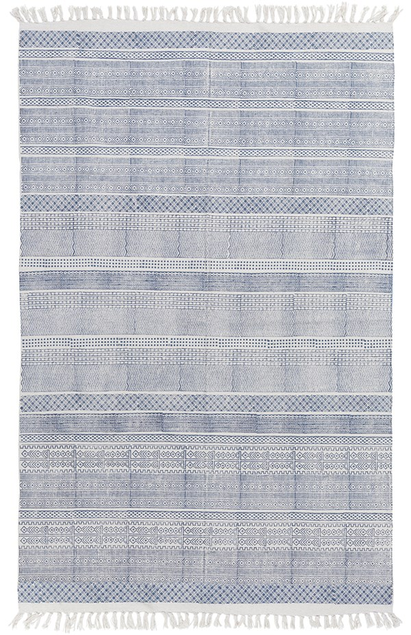 Cobalt, Ivory Transitional Area Rug