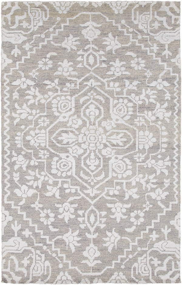 Light Gray, Silver Gray (KNA-6000) Traditional / Oriental Area Rug