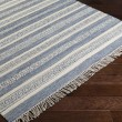 Product Image of Navy, Slate, Ivory (LRY-7001) Striped Area Rug