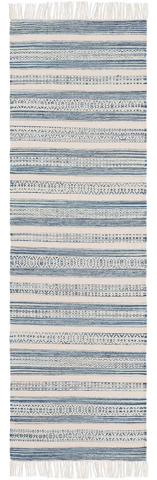 Navy, Slate, Ivory (LRY-7001) Striped Area Rug