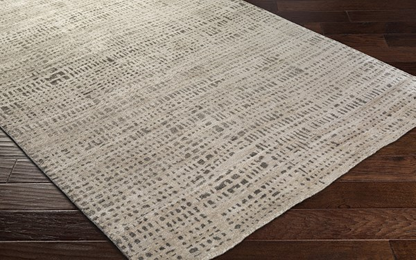 Ivory, Dark Brown, Taupe Transitional Area Rug