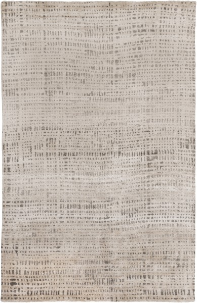 Ivory, Dark Brown, Taupe Contemporary / Modern Area Rug