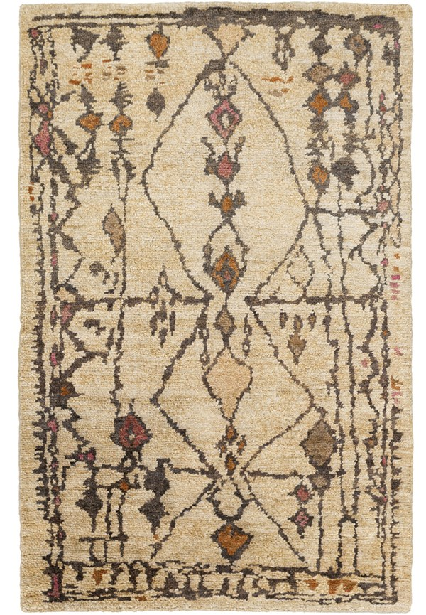 Beige, Mocha, Taupe, Burnt Orange Southwestern / Lodge Area Rug