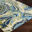 Product Image of Ivory, Moss, Aqua, Navy Transitional Area Rug