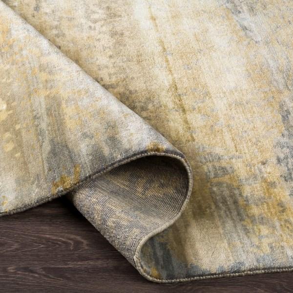 Beige, Light Grey, Gold Contemporary / Modern Area Rug