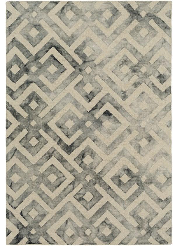 Cream, Light Gray, Medium Gray Contemporary / Modern Area Rug