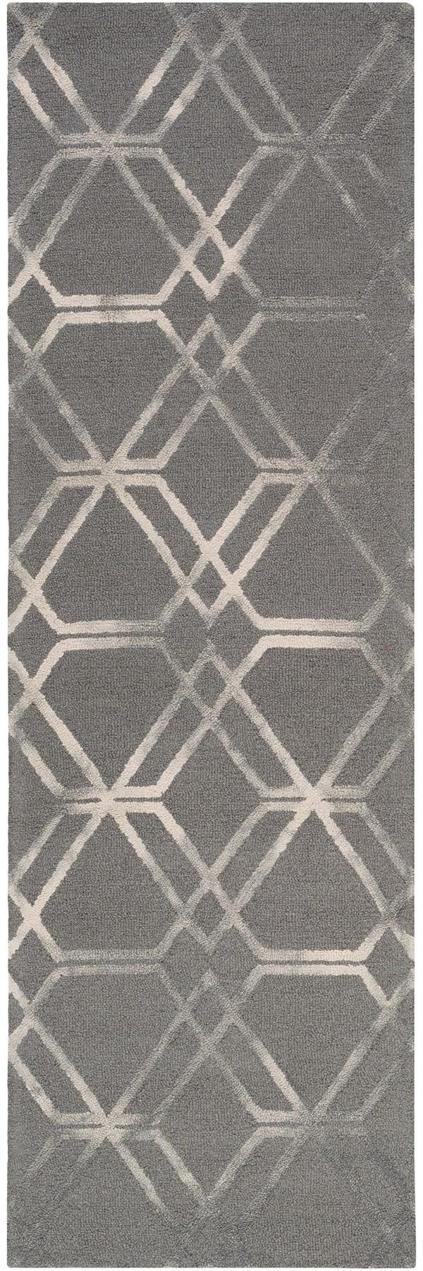 Medium Gray, Cream, Charcoal Transitional Area Rug
