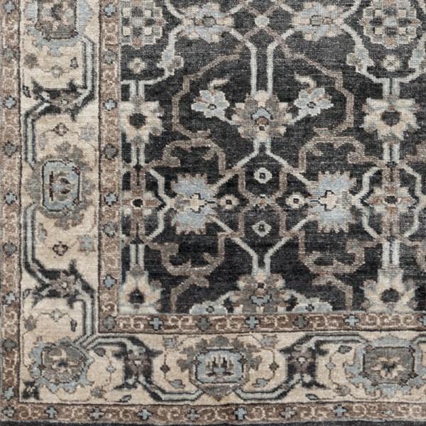 Khaki, Camel, Medium Gray, Black, Pale Blue Traditional / Oriental Area Rug