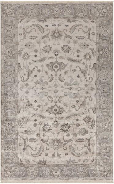 Medium Grey, Camel, Ivory Traditional / Oriental Area Rug