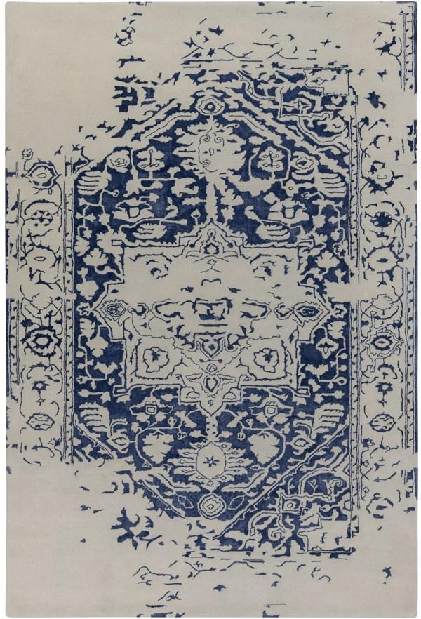 Dark Blue, Khaki (TML-1004) Vintage / Overdyed Area Rug