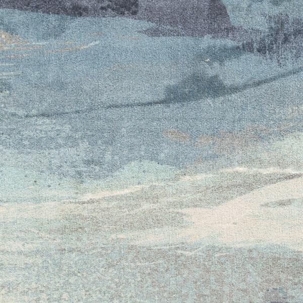 Slate, Sky Blue, Navy, Gray, Ivory Transitional Area Rug