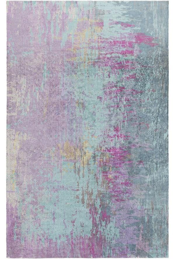 Teal, Mauve, Magenta, Olive Contemporary / Modern Area Rug