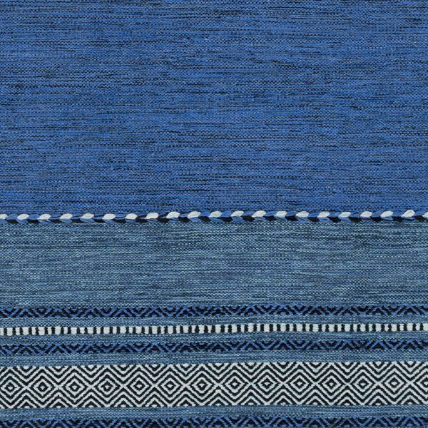 Cobalt, Black, Navy, Sky Blue (TRZ-3003) Southwestern / Lodge Area Rug